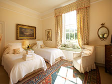 luxury twin bedroom b&b accommodation, north berwick
